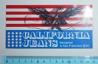ADESIVO VINTAGE CALIFORNIA JEANS STICKER AUTOCOLLANT AUFKLEBER VINTAGE 14X7,5cm