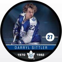 Darryl Sittler Toronto Maple Leafs NHL Alumni Photo Hockey Puck