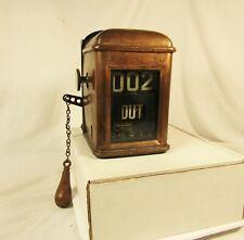 Antique International Register Co. Trolley Streetcar Fare Counter Machine Copper