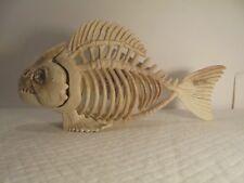 """9 1/2"""" Fake Piranha Skeleton Jaw Open/Close Boney Halloween Haunted House Prank"""