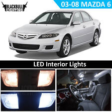 White LED Interior Light Accessory Package Kit MAP DOME for 2003-2008 Mazda 6