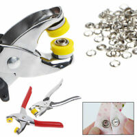 Poppers Plier 9.5mm 100Pcs Ring Snap Metal Prong Ring Snap Fasteners Press Studs