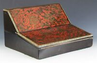 ANTIQUE BOULLE MARQUETRY FOLDING WRITING BOX 19TH C.