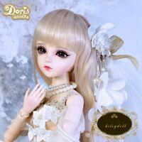 "24"" 1/3 BJD Doll Girl mit Augen Gesicht Make-up Perücke Kleidung Schuhe Full Set"