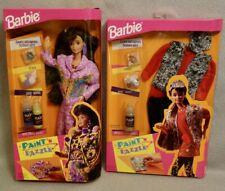 1993 PAINT 'N DAZZLE BARBIE with EXTRA FASHION - MINT in FACTORY SEALED BOXES