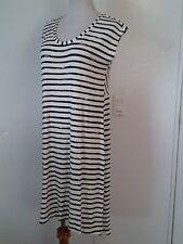 CATO black and white stripes womens dress size medium high low hem