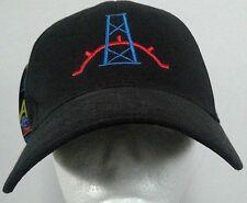 Otto A-flex baseball cap black Pizzeria N.D. Wildcat Williston Drill Baby sz S/M