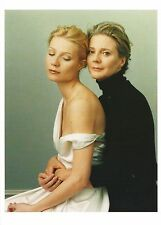 """Postcard Annie Leibovitz Photo """"Gwyneth Paltrow & Blythe Danner"""" Unused MINT"""