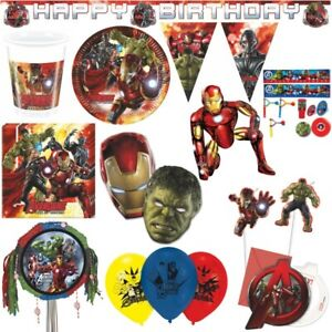 Avengers 2 Age of Ultron Kindergeburtstag Party Deko Geburtstag Hulk Iron Man