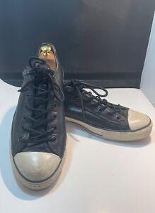 Converse x John Varvatos Ox Black Leather Low Top Sneakers Mens 12 142975C