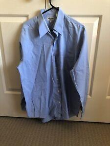 Mens Light Blue Longsleeve Button Shirt Size Large - Pierre Cardin