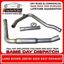 Land Rover Defender 200TDi Off Road Stainless Steel Side Exit Exhaust
