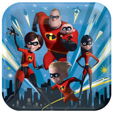 INCREDIBLES 2 LARGE PAPER PLATES (8) ~ Birthday Party Supplies Dinner Luncheon