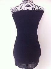 Wowcouture Dress Mini Black Sleeveless Crochet Elastic Ladies Size S(8)  New