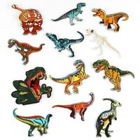 Dinosaur Dino Jurassic Park Iron On Patch Embroidered Badge Applique Kids Action
