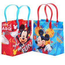 Mickey Mouse Authentic Licensed Reusable Small Party Favor Goodie 12 Bags