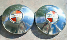 2- JEEP HUBCAPS 1966-73 Commando Jeepster J10 Wagoneer Kaiser Cap Wheel Cover