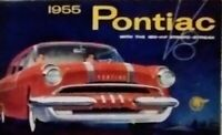 Orig. 1955 Pontiac Full Line Foldout Sales Brochure, Foldout is beautifully done