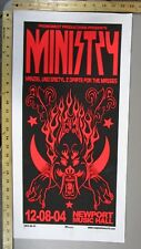 2004 Rock Concert Poster Ministry Mike Martin S/N LE 100 Columbus OH