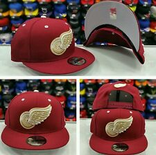 New Era NHL Detroit Red Wings Maroon Gold 9Fifty Snapback