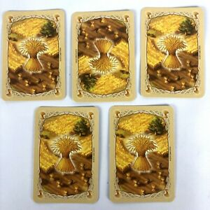 Catan Game Resouce cards Replacement Wheat Grain 5 Cards