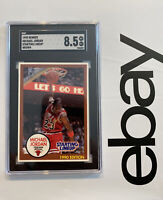 Michael Jordan Starting Lineup SGC 8.5 Kenner Card 1990 RARE BROWN INVESTMENT