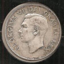 1949, Near Date, XF-AU Canadian Half Dollar #1