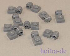 LEGO - 10 x Platte dunkelgrau 1x1 mit Ring / Öse / 4081b NEUWARE