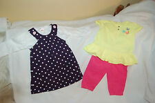 Lot of Carter's Cloths Two sets Dress with shirt & shirt with pants Sz 6 months