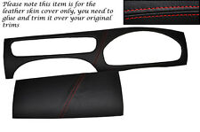 RED STITCH FITS JAGUAR X TYPE 01-09 DASH DASHBOARD SURROUND LEATHER COVERS