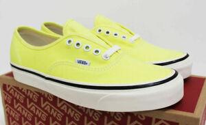 NIB VANS Men's Authentic 44 DX Anaheim Factory Sz 10 Neon Yellow Sneakers Shoes