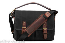 ONA Prince Street Canvas (Black) Camera/Messenger Bag >Handcrafted Premium Bags