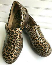 BOC Born Clogs 9.5 EU 41 Slip-on Leopard Patent concept casual round top comfort
