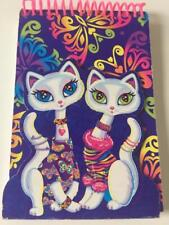 Lisa Frank Vtg Roxi Rollie Siamese Cats Spiral Note Book Flap Cover Butterflies