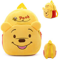 2018 Cute Winnie the Pooh Kindergarten School Bag Kid's Backpack 23*21*9cm Gift
