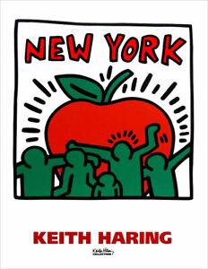 Keith Haring Untitled 1989 New York Big Apple Poster Print Art 24 x 18