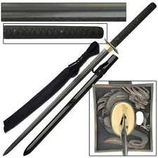 Dragon Knight Katana Black Damascus Sword, Razor Sharp Edge,30 Inch Steel Blade