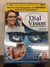 Dial Vision Adjustable Eye Glasses Vision Reader Glasses Open Retail Return