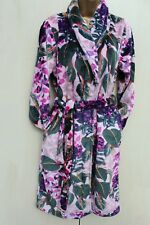 Next Pink Floral Print Super Soft Fleece Dressing Night Gown Robe Small 8-10 UK