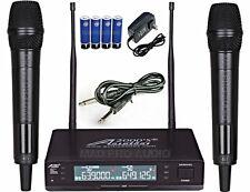 Professional Dual Wireless Microphone UHF 1200 channel cordless mics karaoke mic