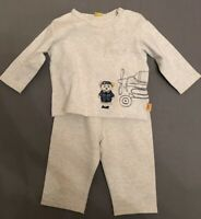 Steiff SET Sweat-Shirt LITTLE AVIATOR FLUGZEUG + Jogginghose SUNDAY ROSE Gr. 62