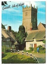 Godshill, Isle of Wight, England Postcard  - Church & Thatched Cottages