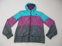 THE NORTH FACE Women Size S Mountain Shell Blue/Purple Hooded Hooded Wind Jacket