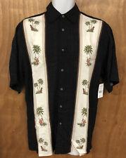 Moda Campia Moda Men's Short Sleeve Shirt with Palm Trees Size S Brand new