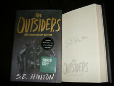 S.E. Hinton signed The Outsiders 1st printing hardcover book 50th anniversary