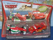 DISNEY PIXAR CARS 2 FRANCESCO BERNOULLI & LIGHTNING McQUEEN 2 PACK BRAND NEW