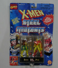 1994 Marvel X-Men Steel Mutants Rogue vs. Pyro Figurines
