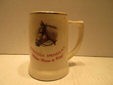 Saratoga Springs New York Where Horse Is King Beer Mug Made In USA #701
