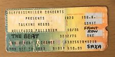 1980 Talking Heads / The English Beat Hollywood Palladium Concert Ticket Stub