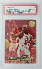 1995 Fleer Ultra Double Trouble Gold Medallion Michael Jordan #3, Graded PSA 8